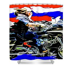 Mead In America Shower Curtain by Michael Nowotny