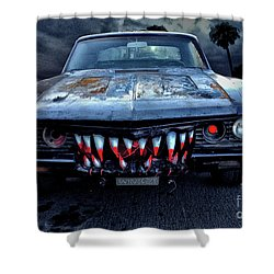 Mean Streets Of Belmont Heights Shower Curtain by Bob Winberry