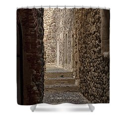 Medieval Street Shower Curtain