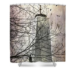 Memorial Shower Curtain by Judy Wolinsky