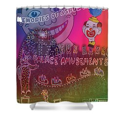 Shower Curtain featuring the painting Memories Of Asbury Park by Patricia Arroyo