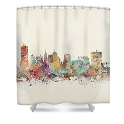 Memphis City Skyline Shower Curtain