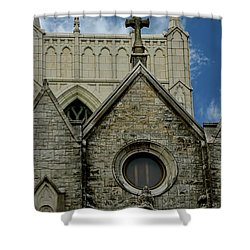 Memphis Cross In The Clouds Shower Curtain