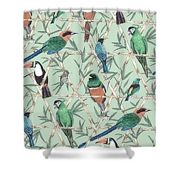 Menagerie Shower Curtain by Jacqueline Colley