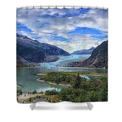 Mendenhall Glacier Shower Curtain
