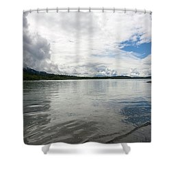 Mendenhall Lake Shower Curtain