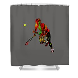 Mens Tennis Collection Shower Curtain