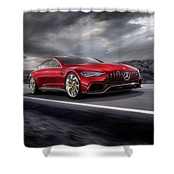 Mercedes A M G   G T Shower Curtain by Movie Poster Prints
