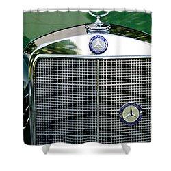 Mercedes Benz Hood Ornament Shower Curtain by Jill Reger