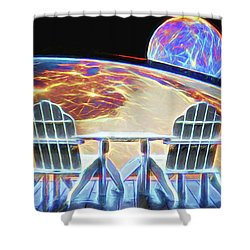 Shower Curtain featuring the digital art Mercury Rising by John Haldane