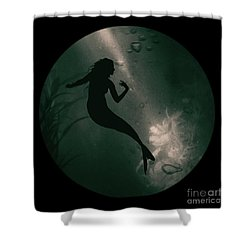 Mermaid Deep Underwater Shower Curtain