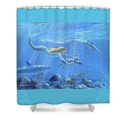 Mermaid Fantasy Shower Curtain