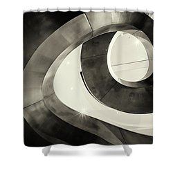 Abstract Metal Spiral Staircase Shower Curtain