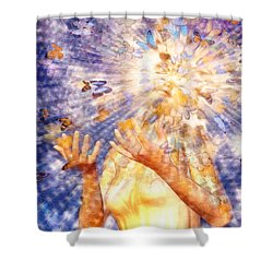 Metamorphosis Shower Curtain by Robby Donaghey