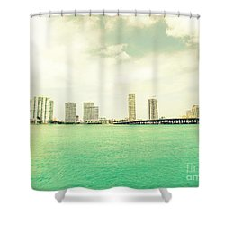 Shower Curtain featuring the photograph Miami  by France Laliberte