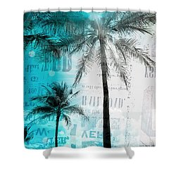 Shower Curtain featuring the photograph Miami Palm Trees by France Laliberte