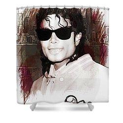 Michael Jackson Shower Curtain Anthony Dezenzio - Curtains for Sale