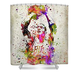Michael Jordan In Color Shower Curtain