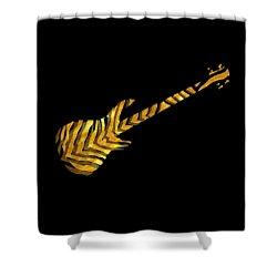Shower Curtain featuring the digital art Midas Bass by Guitar Wacky