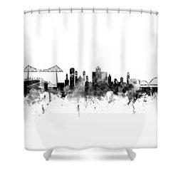 Middlesbrough England Skyline Shower Curtain