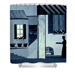 Midnight In Limoux Shower Curtain