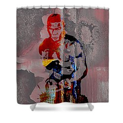Mike Tyson Collection Shower Curtain by Marvin Blaine
