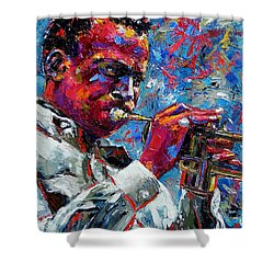 Miles Davis Shower Curtain by Debra Hurd