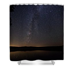Milky Way Chocorua Lake Shower Curtain