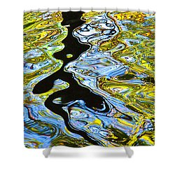 Mill Pond Reflection Shower Curtain