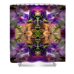 Shower Curtain featuring the digital art Mind Portal by Lynda Lehmann