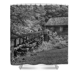 Shower Curtain featuring the photograph Mingus Mill 3 Mingus Creek Great Smoky Mountains Art by Reid Callaway