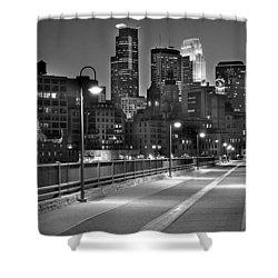 Minneapolis Skyline From Stone Arch Bridge Shower Curtain