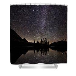 Mirror Lake Milky Way Shower Curtain