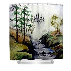 Misty Creek Shower Curtain by Jimmy Smith