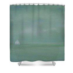 Misty Sail Shower Curtain