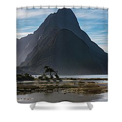 Shower Curtain featuring the photograph Mitre Peak / Rahotu by Gary Eason