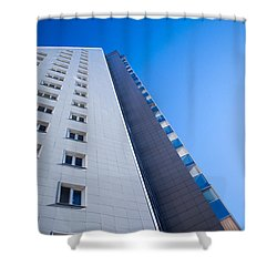 Shower Curtain featuring the photograph Modern Apartment Block by John Williams