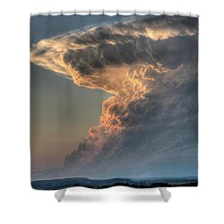 Montana Thunderstorm Shower Curtain