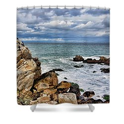 Shower Curtain featuring the photograph Monterey Bay by Gina Savage