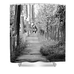 Montreal Street Photography Shower Curtain