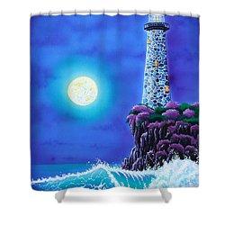 Moonlight Vigil Shower Curtain by Angie Hamlin