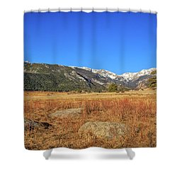 Moraine Park In Rocky Mountain National Park Shower Curtain