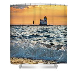 Morning Dance On The Beach Shower Curtain