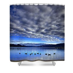 Morning Light On Okanagan Lake Shower Curtain by Tara Turner