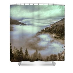 Morning Mountains II Shower Curtain