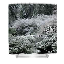 Morning Snow In The Garden Shower Curtain
