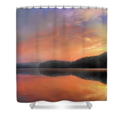 Shower Curtain featuring the photograph Morning Solitude by Darren Fisher