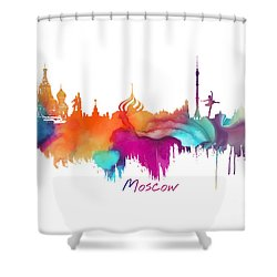 Moscow  Shower Curtain by Justyna JBJart