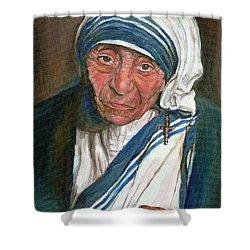 Mother Teresa Shower Curtain by Carole Spandau