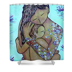 Motherhood Flowers All Over Shower Curtain